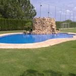 """Coronación de piscina realizada """"in situ"""""""